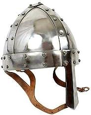 KEW HANDICRAFTS Medieval 18 Gauge Steel Norman Helmet Viking Armor Collectible Replica Medieval 18 Gauge Steel