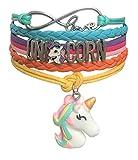 Doctor Unicorn - Cute Unicorn Bracelet Wristband Handmade Rainbow Jewelry Infinity Love Charm Gifts 17 Styles (Rainbow Bracelet with 2 Unicorns)