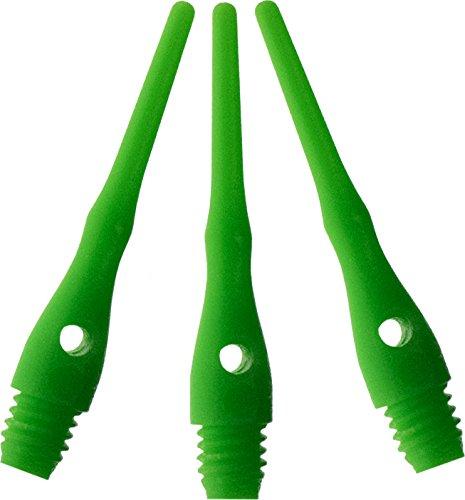 Viper Dart Accessory: Tufflex III 2BA Thread Soft Tip Dart Points, Neon Green, 100 Pack