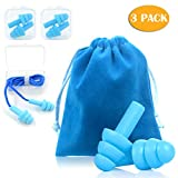 Noise Cancelling Ear Plugs, WECLUB Soft Reusable Silicone Ear Plugs with Cord Noise