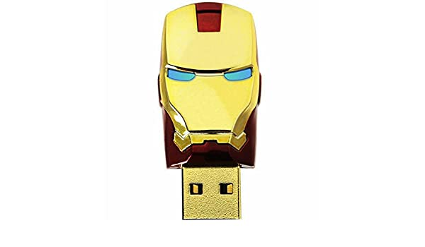 Iron Man Mascara de Avengers Metal 16GB Usb 2.0 Memoria USB Flash Drive Rojo: Amazon.es: Electrónica