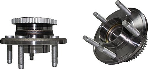 Detroit Axle - Brand New (Both) Front Wheel Hub and Bearing Assembly Avanti, Mustang 5 Lug W/ ABS (Pair) 513221 x2