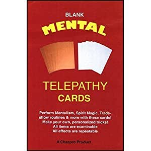 Mental Telepathy Cards (BLANK) by Chazpro Magic - Trick