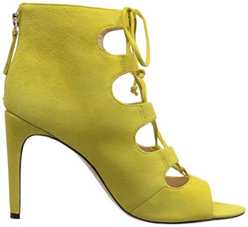 Bomba de Nine West Unfrgetabl vestido de gamuza Yellow Suede