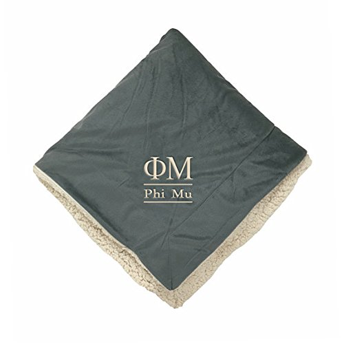 Phi Mu Sherpa Throw Blanket B01MQD7YAD