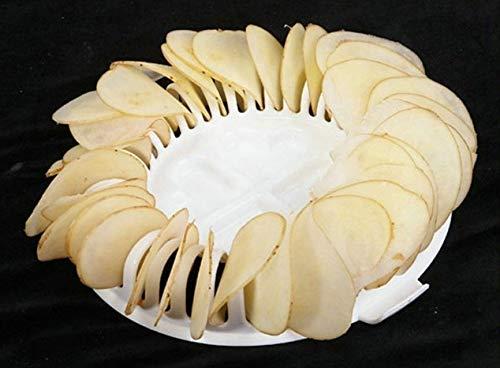 DIY Baja calorías horno de microondas Baked Potato Chips parrilla ...