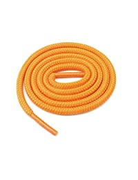 "Round Shoelaces 3/16"" Thick Solid Colors for All Shoe Types Several Lengths (Orange-36)"