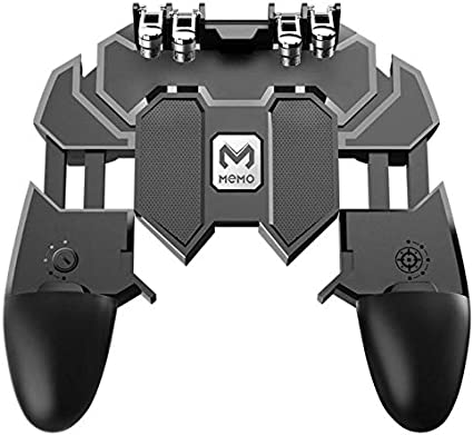 Amazon.com: AK66 Six Fingers PUBG Game Controller Gamepad Metal Trigger Shooting Free Fire Gamepad Joystick for iOS Android Mobile Phone