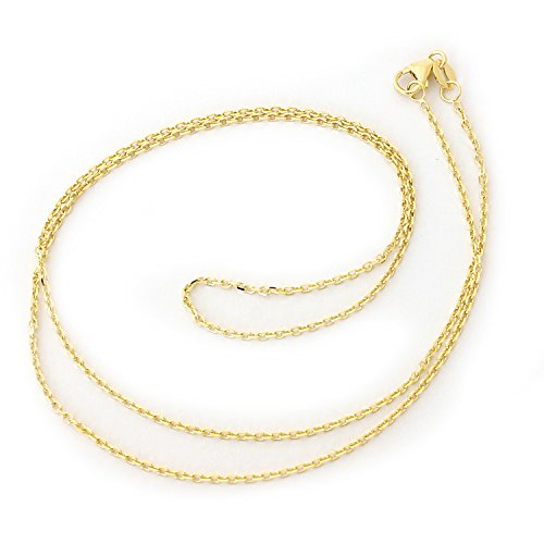 llow Gold 1.4mm Cable Link Chain Necklace, 18