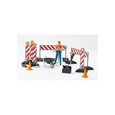 Bruder 62000 bworld Construction Set with Man (Colors May Vary): Toys & Games