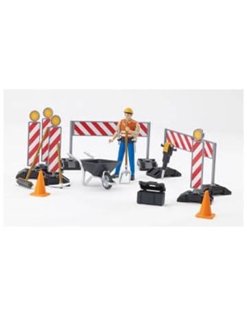 Bruder 62000 Bworld - Set de construcción con muñeco (no necesita pilas)