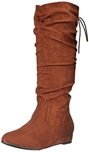 2 Lips Too Women's Too Scrunch Slouch Boot, Brown, 7.5 M US Suede Scrunch Boot