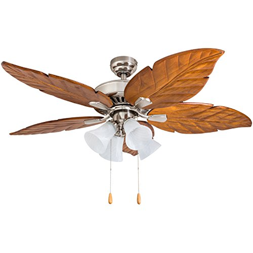 (Prominence Home 50768-01 Grayton Tropical Ceiling Fan (3 Speed Remote), 52