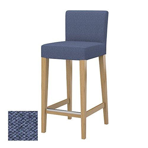 Soferia - IKEA HENRIKSDAL Funda Taburete Alto, Nordic Denim