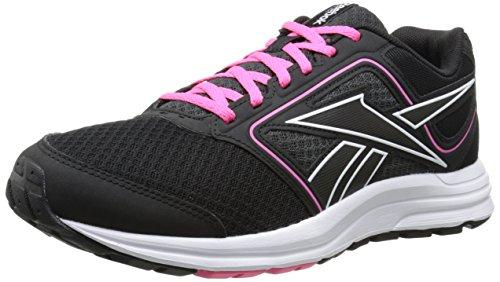 Reebok Women's Zone Cushrun MT Running Shoe, Black/Gravel/Solar Pink/White, 7 M US