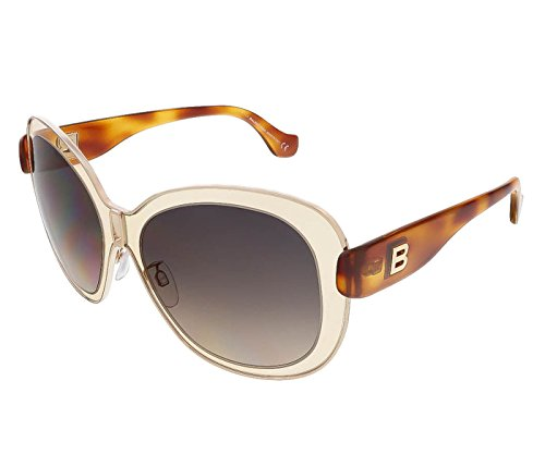 Balenciaga Women's Oversized Gold-Tone and Peach - Sunglasses Womens Balenciaga
