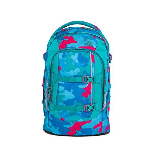 Satch Schulrucksack Pack Caribic Camou 9D9 blau pink camouflage