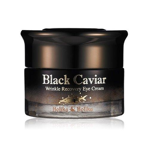 Holika Holika - Black Caviar Anti Wrinkle Eye Cream for men and woman - Anti Aging Cream with Black Caviar, Gold Extract & Royal Jelly - Facial Care - Daycream