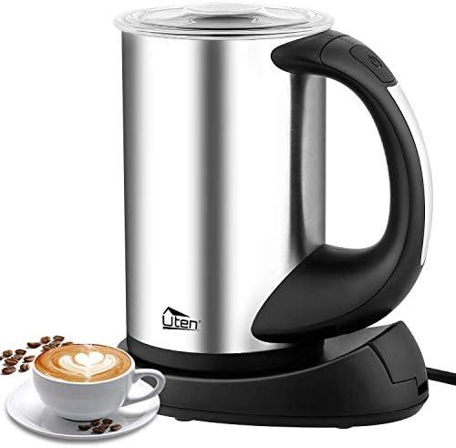 Uten ZED-ZJ0705 Vaporizador el/éctrico fr/ío capuchino y chocolate caliente de acero inoxidable espumador de leche autom/ático y calentador para caf/é funcionamiento silencioso