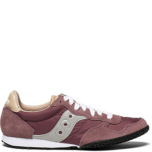 (Saucony Originals Women's Bullet Running Shoe, Maroon/tan, 6.5 Medium US)