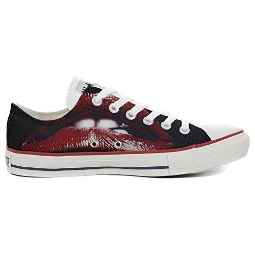 Low coutume All Lips Personnalisé Unisex artisanal et chaussures Sneaker Star produit Style Imprimés Converse Italien a7UqwU