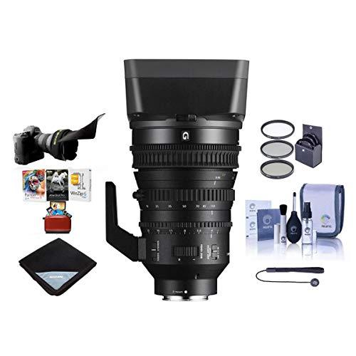 Sony E PZ 18-110mm F4.0 G OSS E-Mount Lens - Bundle with 95mm Filter Kit, Flex Lens Shade, Cleaning Kit, Lens Wrap (19x19), Lenscap Leash II, Mac Software Package