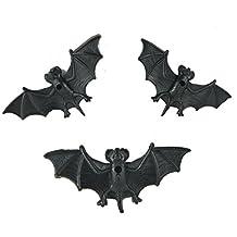 Skyseen Halloween Rubber Simulation Bats - 3 Pieces