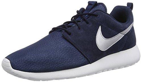 nike rosherun suede mens running trainers 685280 sneakers shoes Obsdn/Mtllc Slvr/Smmt Wht/Vlt P8S9CR6
