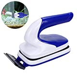 #8: OWUDE Fish Tank Magnetic Cleaning Brush Aquarium Double Side Glass Cleaner Algae Scrubber Handle Design Floating Clean Brush with Scraper (Small)