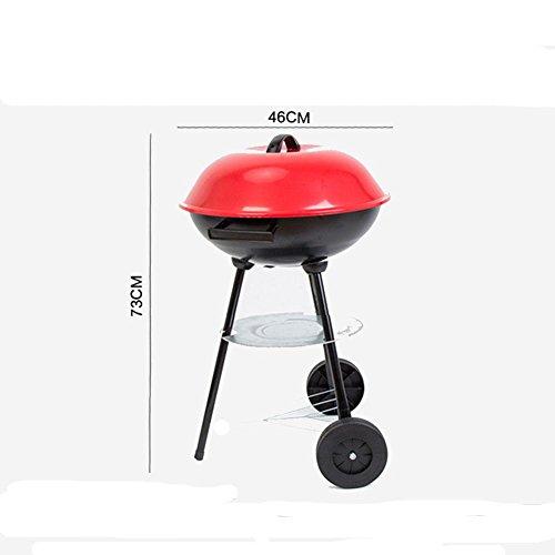 YFK 46 * 46 * 73 (cm) barbecue griglia all'aperto pieghevole durevole nessuna ruggine