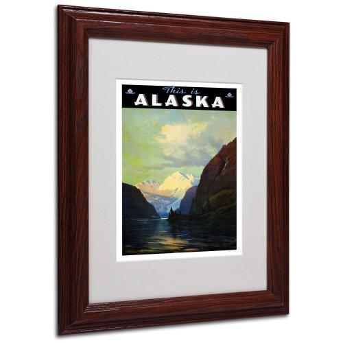 Trav Alaska Artwork by Vintage Apple Collection, Wood Frame, 11 by - Alaska Art Fine