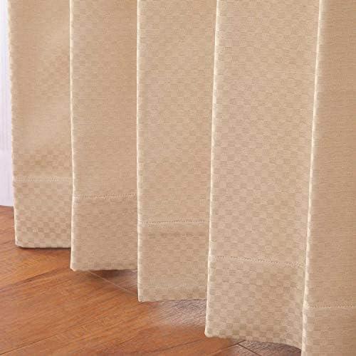 カーテン 【オーダーカーテン】形状記憶加工 シフォン アイボリー 幅120cm×丈180cm 1枚入 3色×518サイズ