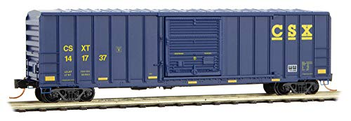 (Micro-Trains MTL N-Scale 50ft SD Ribbed Side Box Car CSX Transportation #141737)