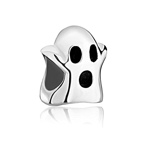 CharmsStory Ghost Halloween Charm Bead 925 Sterling Silver European Style For - Ghost Bead