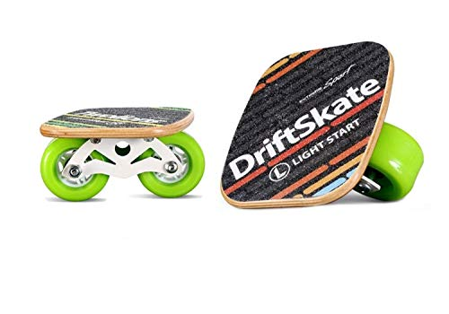 - Portable Roller Road Maple Drift Skates Plate Anti-Slip Board Split Skateboard Aluminum Alloy with PU Wheels(Green)