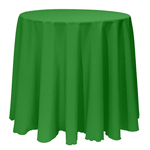 Ultimate Textile 90 Inch Round Polyester Linen Tablecloth Emerald Green - Round Buffet Table Clothes