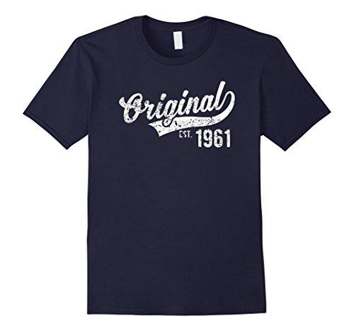 Mens Original Est. 1961 Vintage Birthday Gift T-Shirt 2XL Navy