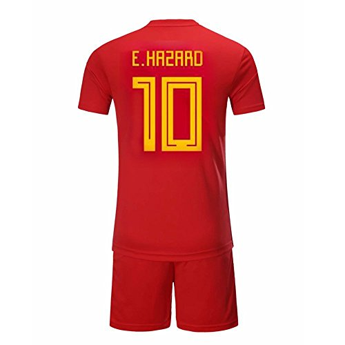 da75dc79f Hazard Jersey Suits  10 Belgium Home Jersey Suits 2018 World Cup Red  (M(170-175))