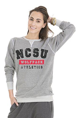 Venley NCAA North Carolina State Wolfpack Colby Tri-Blend Crew Neck Sweatshirt, X-Large, Tri-Grey