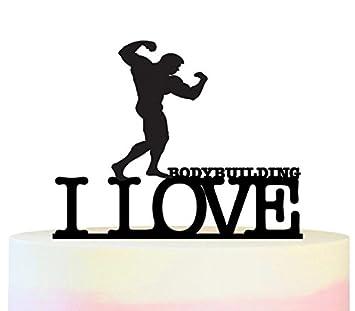 Innovedesire I Love Bodybuilding Kuchenaufsatze Hochzeit Geburtsta