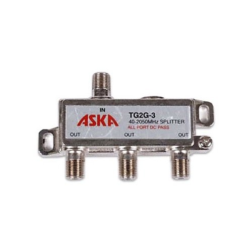 4-Way Wideband Satellite Splitter 1 Port Power Passive Combiner 5-1000MHz IF 950-2150 MHz Grounding Block Satellite CATV Off-Air Signals UHF/VHF Video ()