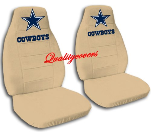 2 Tan Dallas seat covers for a 2007 to 2012 Chevrolet Silverado. Side airbag friendly. by Designcovers (Image #1)