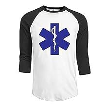 Men's Paramedic Symbol 3/4 Sleeve Raglan Baseball T Shirt