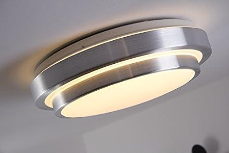 hofstein bad deckenlampe mit energiesparendem warmweißen led-licht ... - Led Licht Badezimmer