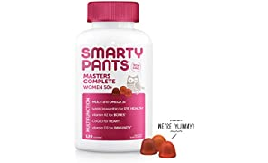 SmartyPants Women's Masters Complete 50+ Vitamins: Gluten Free, Multivitamin & Lutein/Zeaxanthin for clinically-Proven Eye Health*, Vitamin D3, CoQ10, Omega 3 Fish Oil, 120 Count, (30 Day Supply)