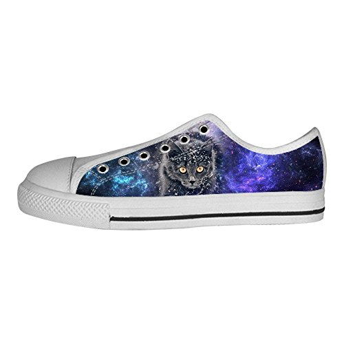Custom Cartoon Katze Mens Canvas shoes Schuhe Lace-up High-top Sneakers Segeltuchschuhe Leinwand-Schuh-Turnschuhe C