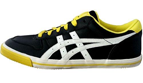 Asics Aaron GS - Zapatillas para niño Negro/amarillo/blanco