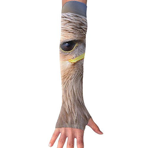 Tawny Eagle UV Protection Cooler Arm Sleeves Unisex Men Women Sun Protection Arm Cover Sleeve For Bike/Hiking/Running/Golf 1 Pair (Eagle Tawny)
