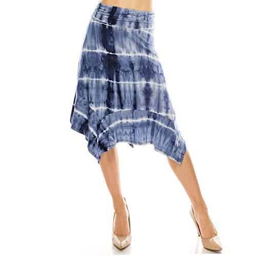Fashionazzle Women's Flowy Handkerchief Hemline...