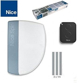 NICE SPIN10KCE Conjunto de motor para puertas seccionales basculantes: Amazon.es: Bricolaje y herramientas